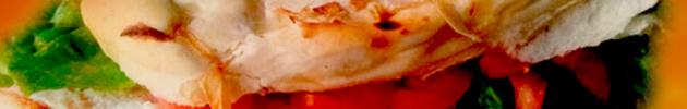 Sándwiches de 1/4 pollo en pan de pizza