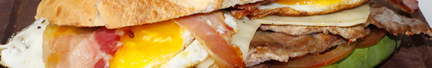 Sándwiches de bondiola gourmet