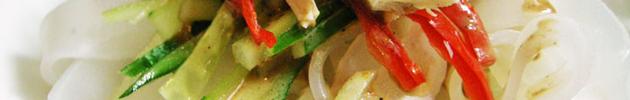 Pan-tiao (fideos de arroz anchos salteados)