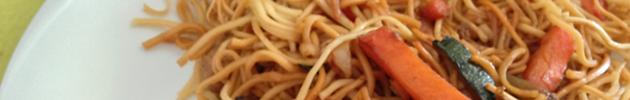 Za-mien (fideos fritos crocantes con verduras)