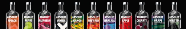 Combos vodka Absolut