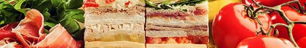 Sándwiches triples (corte grande)
