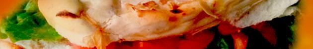 Sándwiches de pollo en pan de pizza