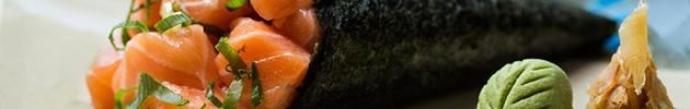 Temakis (cucurucho con alga por fuera)