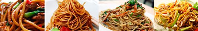 Fideos caseros al wok (fideos caseros y vegetales)