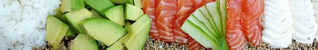 Ensaladas de sushi