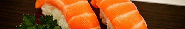Nigiris (lámina de pescado sobre arroz)