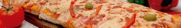 Pizzas grandes al molde (8 porciones)