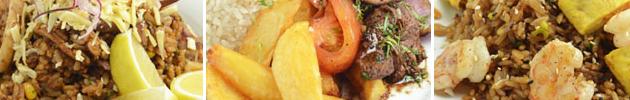 Platos peruanos al wok