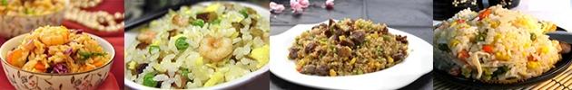 Arroz al wok (arroz, huevo, zanahoria y arvejas)