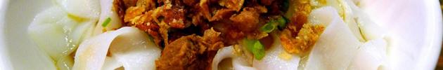 Pan tiao (fideos de arroz ancho)