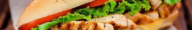 Sándwiches en pan de viena