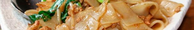 Fideos de arroz ancho saltados (pan-tiao)