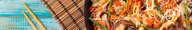 Chao mi-fen (fideos de arroz fino salteado)