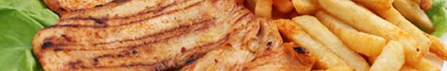 Chicken grill (pechugas asadas con papas fritas)