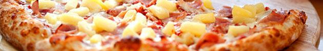 Pizzas com suínos