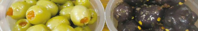 Azeitonas e vegetais