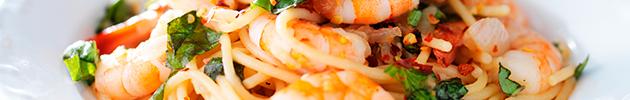 Pratos com frutos do mar