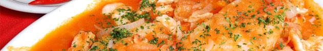 Peixes e camarão