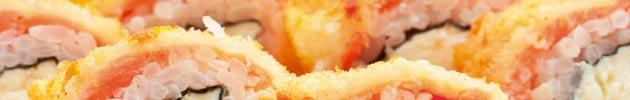 Hot rolls tempura y furai