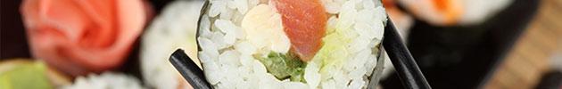 Hot rolls tempura envueltos en batido de masa tempura