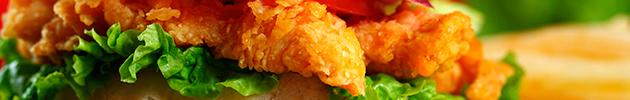 Sándwiches de croqueta de pollo
