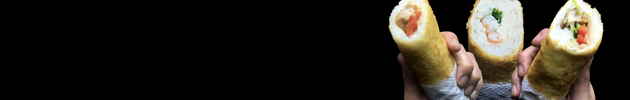 Hand rolls (en panko y sin nori)