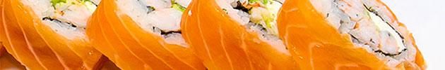 Sake rolls en salmón (10 piezas)