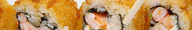 Hot rolls en tempura o panko (10 piezas)