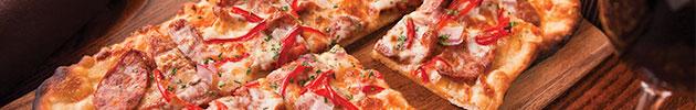 Pizzas con pan de ajo
