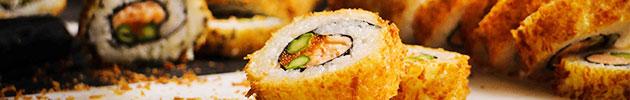 Rolls envueltos en tempura