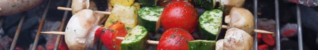Parrilla y verduras asadas
