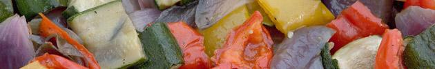 Parrillada y verduras asadas