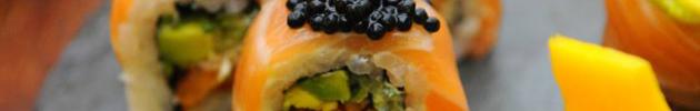 Sushi rolls especiales (alga por dentro)