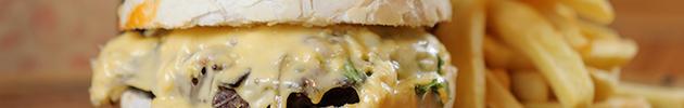 Hamburguesas dobles en pan crocante