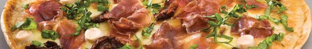 Pizze grande gourmet con muzzarella (35 cm)