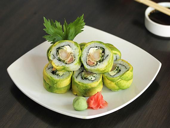 10. Ebi tempura roll (8 piezas)