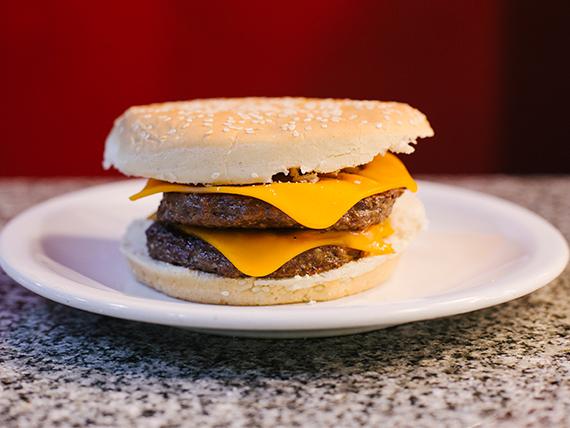 Hamburguesa doble carne y queso