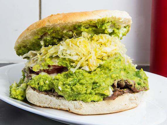 Sándwich de churrasco dinámico