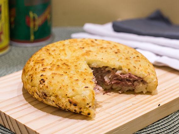 Batata suíça de carne seca