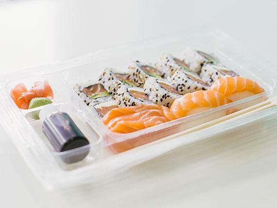 Promo - Bandeja Now salmón (15 piezas)