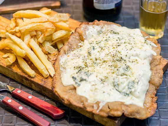 Milanesa a los 4 quesos