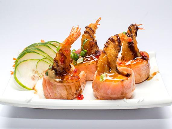 Gunkan camarão empanado