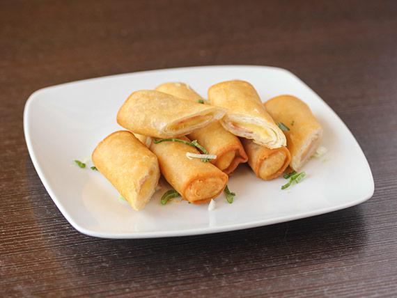 Arrollados de jamón y queso (5 unidades)