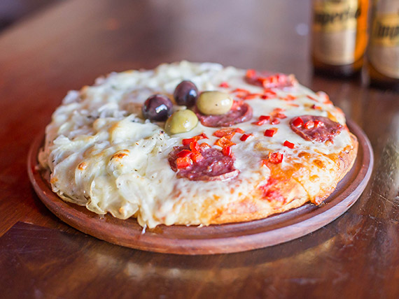 Pizza chica 2 sabores