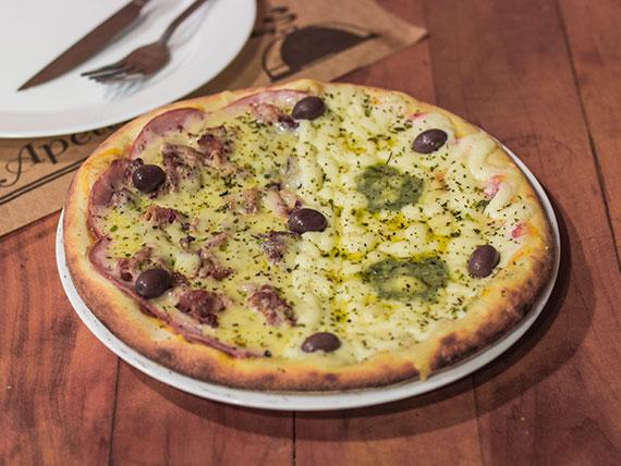 Pizzas meio a meio broto