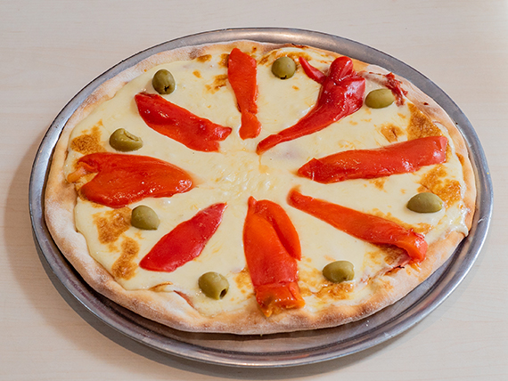 Pizza muzzarella y morrones grande