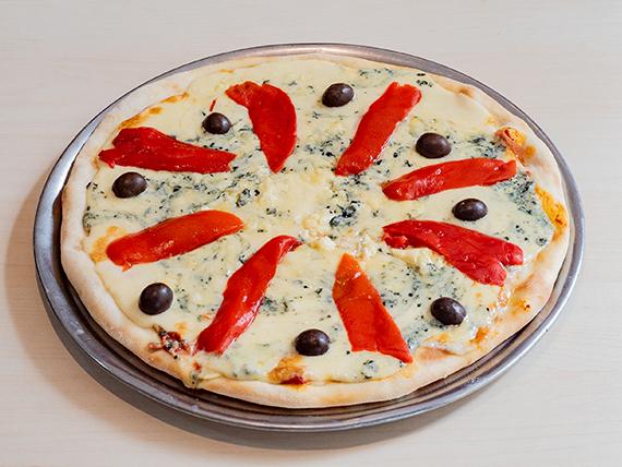Pizza de jamón y roquefort grande