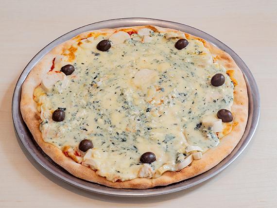 Pizza de palmitos y roquefort grande