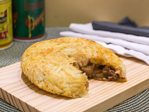 Batata ou mandioca suiça filé mignon
